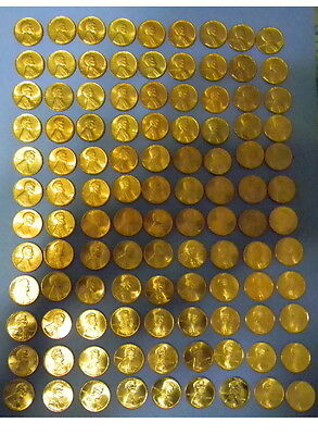 134 Pennys1959 To 2017 P,d,s Mints Bu To Unc Condition All 7 1982 Types