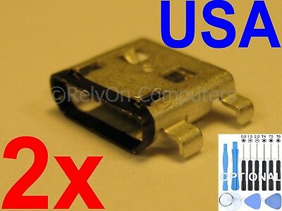 2x Micro USB Charging Port Sync For Acer Iconia One 10 B3-A30 A6003 Tablet USA