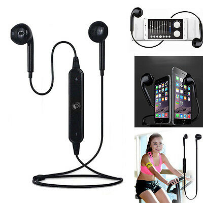 Wireless Bluetooth Headset Stereo Headphone Earphone Sport for iPhone Samsung *