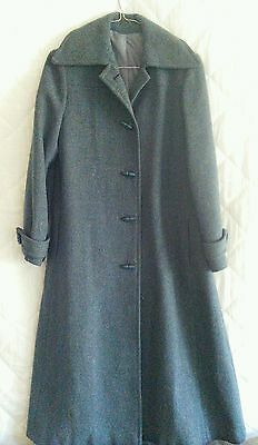 """Miss Smith Original"" vintage long green/turquoise wool coat jacket. GUC. 12."