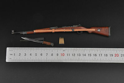 1/6 WWII German Army Model 98K Rifle Gun Weapon Bayonet For 12'' Figure Toys