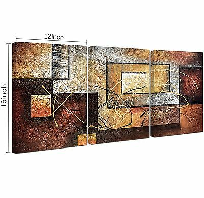 3 Panels Wall Art Framed Canvas Home Decor Abstract Painting Modern Prints Pictu