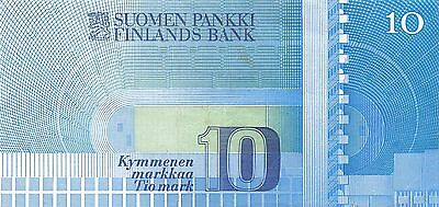 Finland  10 Markkaa  1986 circulated Banknote