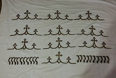 (10) Vintage Antique Cast Iron Fence & Gate Gothic Cross Finials Rare