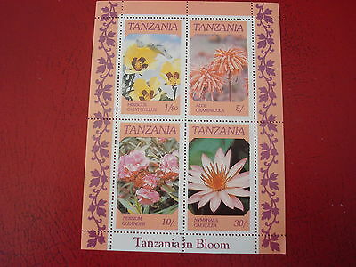 Tanzania - In Bloom - Minisheet - Unmounted Mint -  Ex Condition