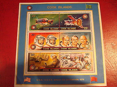Cook Islands - 1975 Space - Minisheet - Unmounted Mint - Ex. Condition