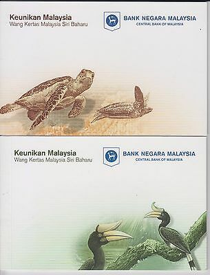 Malaysia 2011 Folders 1 x 20 Ringgit + 3 x 1 & 5 Ringgit Sets - See Details !!!
