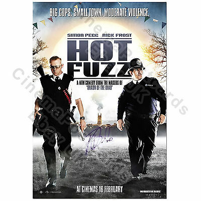 HOT FUZZ Original (Simon Pegg Nick Frost) 1-Sheet Poster, Signed Paddy Autograph