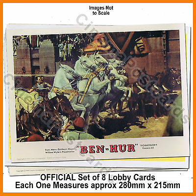 BEN HUR William Wyler 1959 Charlton Heston Official 8 Lobby Card Picture Set NEW