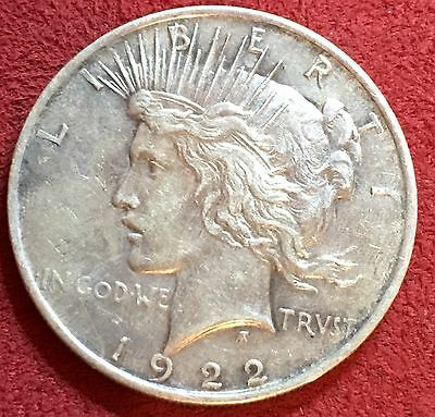1922 PEACE SILVER DOLLAR $1 United States,  (itm # 1095)