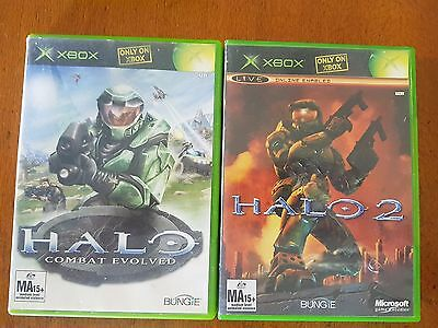 Halo 1 & 2 - XBOX Original - Complete - Acceptable Condition