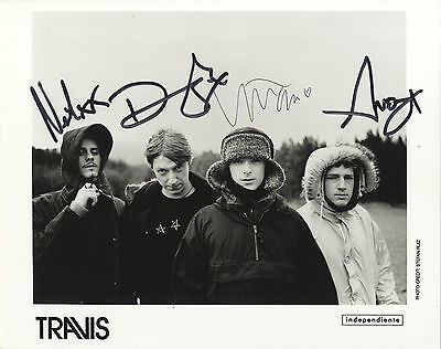Travis - British Band - ' Why Does It Always Rain On Me ' - In Person Signed.