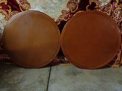 Pair Of Wooden Round Table Tops, Home Decor - Lot # 2