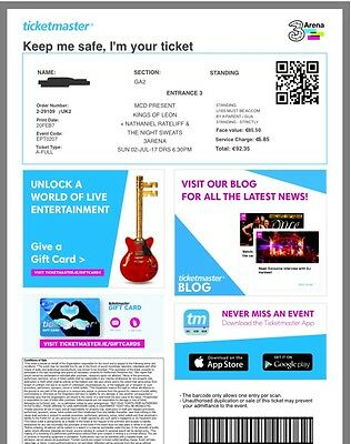2 Kings Of Leon Tickets For Sale 2nd July 3 Arena Dublin!