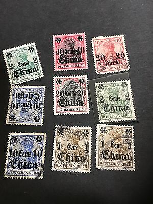 German Post In China  Used Stamps  1 To 40 Cent Stamp