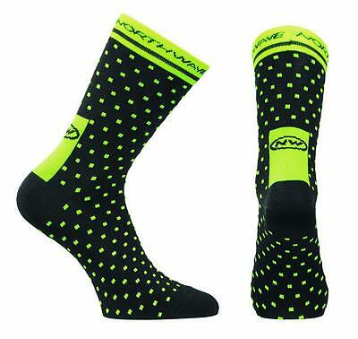 NORTHWAVE Calcetines ciclismo hombre SWITCH LINE negro/amarillo fluorescente
