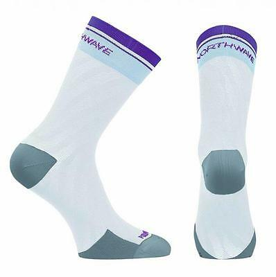 NORTHWAVE Calcetines ciclismo mujer LOGO WMN blanco/negro