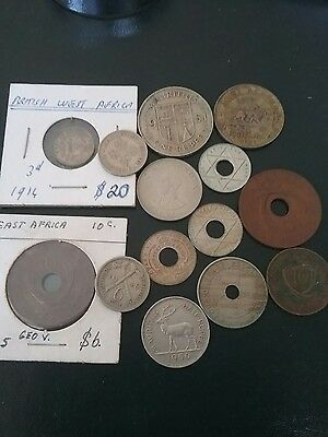 Africa  Coins from African countries