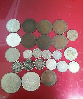 Canada vintage silver coins and others