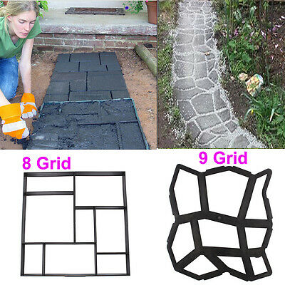 DIY Garden Patio Driveway Yard Paving Concrete Mould Stone Slabs Mold Tool Decor