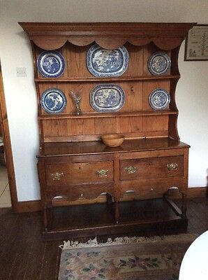 Antique Oak Potboard Country Welsh Dresser