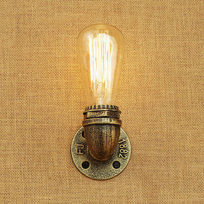 Vintage Loft Copper Industrial Rustic Sconce Wall Light Lamp Fitting Edison Bulb