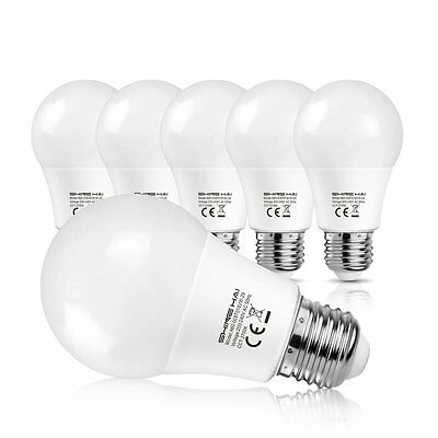 E27 LED Bulbs 8W,60W Incandescent Bulbs Equivalent,2700K Extra Warm White,6-Pack