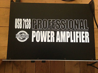 US Blaster  usb7138  power Amplifier 2x200w perfect for DJ's, comes with manual