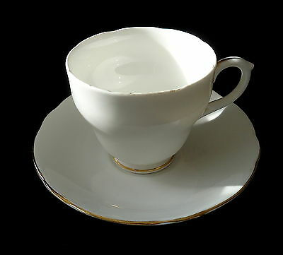 Duchess Lovely White With A Gold Trim Cup & Saucer.. .. .. ..
