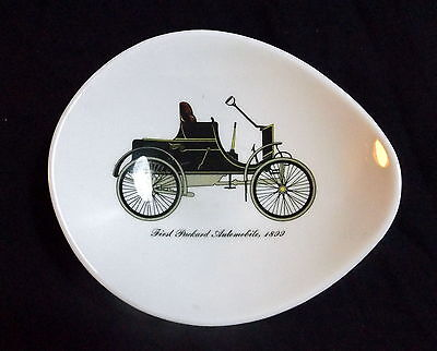 """Staffordshire Queensberry Dish """" First Packard Automobile 1899 """" Size 17 x 15 cm"""