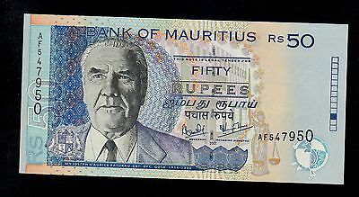 MAURITIUS  50  RUPEES  2001  AF  PICK # 50b UNC  BANKNOTE.