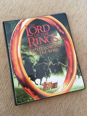 The Lord Of The Rings The Fellowship Of The Ring Binder And 90 Cards