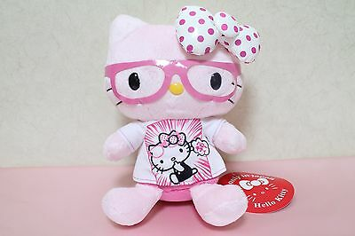 RARE 2013 NWT Hello Kitty Pink Glasses & T Shirt Sold Only in JAPAN Plush