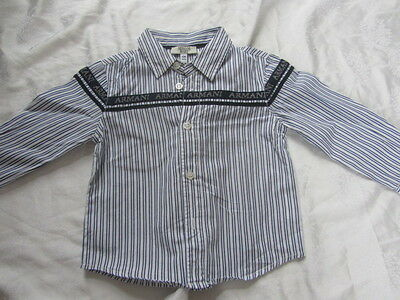 ARMANI baby 12 mois, chemise manches longues, griffée TBE