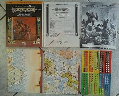 DL11 : DRAGONS OF GLORY ~* NMINT, Counters UNPUNCHED *~ TSR AD&D Dragonlance