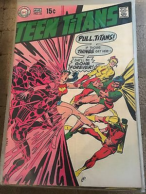 Teen Titans No 22 Aug 1969 Fine. DC COMICS First Silver Age Series Issue.