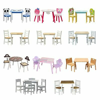 Kids table and chairs 2 + 1 or 4+1 Wooden Set furniture for toddlers Children