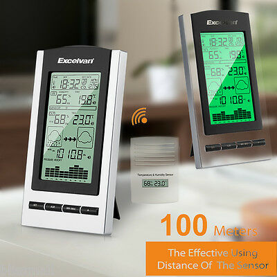 Digital Weather Station with Indoor and Wireless Outdoor Temperature Barometer