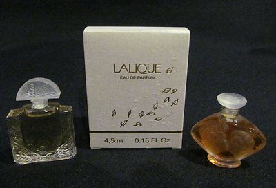 Two Lalique Miniature Perfumes