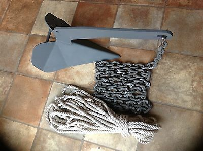 ANCHOR. 10kg DELTA TYPE complete with Chain & Rope