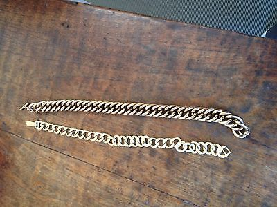 Ladies gold effect metal necklaces both in excellent condition
