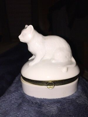 Cat Figurine Trinket Box
