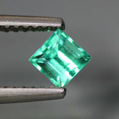 0.46 Cts_World Class Very Rare Top Color_100% Natural Blue Green Apatite_Brazil