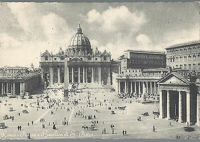 Vatican Postcard With Vatican Stamp 1955 St Peter Csathedral