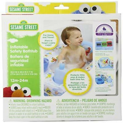 Sesame Street Inflatable Bathtub, Blue/White Perfect US SELLER New