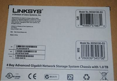 LINKSYS 4 Bay Advanced Gigabit Network Storage System Chassis Only 2X