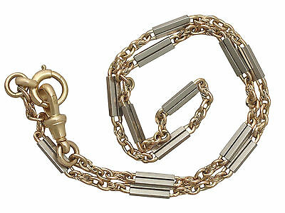 Antique 18ct Yellow Gold and Platinum Watch Chain/Bracelet - Circa 1920