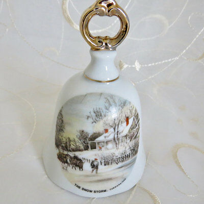 """Currier & Ives Bell """"The Snowstorm"""""""