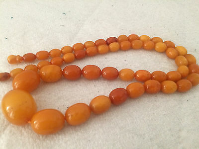 ANTIQUE AMBER NECKLACE - Beautiful Old Natural Baltic Amber Beads 老琥珀 50.14g