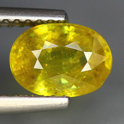 1.62 Cts_World Class Very Rare Gemstone_100 % Natural Green Sphene_Russia